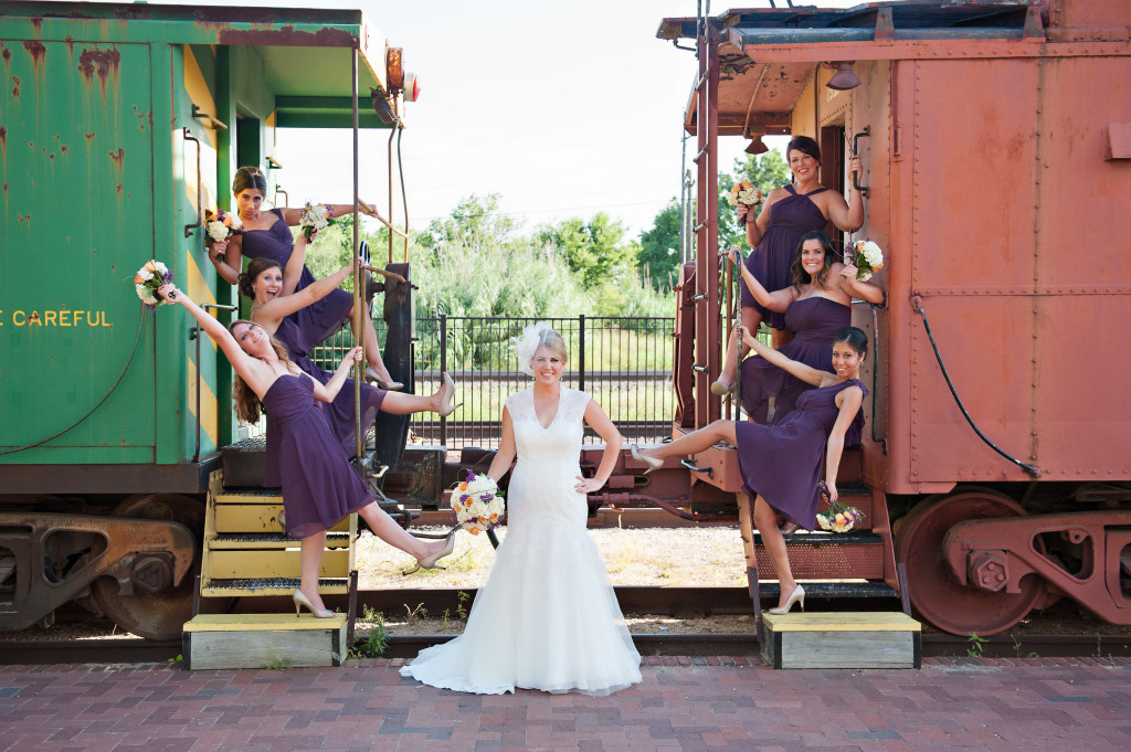 Wedding Photography Temple Railroad Museum