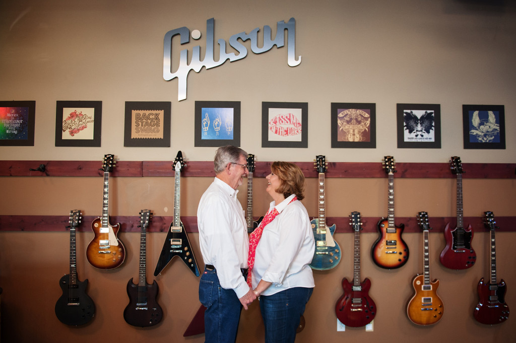 Gibson Guitar Showroom Austin Photography
